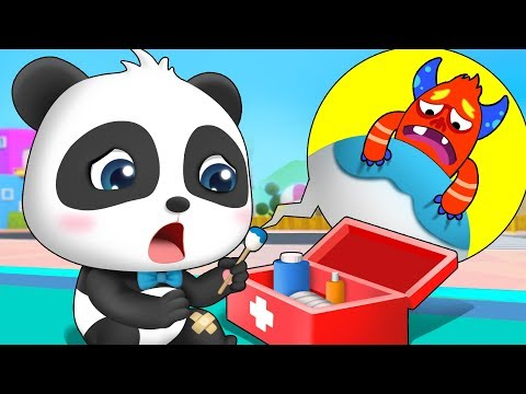 Bad Germs on Baby Panda's Leg | Doctor Pretend Play | Potty Training | Kids Safety Tips | BabyBus