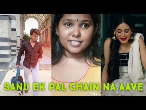#sanu ek pal chain na aave sajna tere bina #tik tok viral video#aj creation mp3