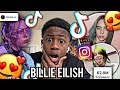 K Y R E E Reacts To NEW BILLIE EILISH TIKTOK COMPILATION OF 2021!! REACTION