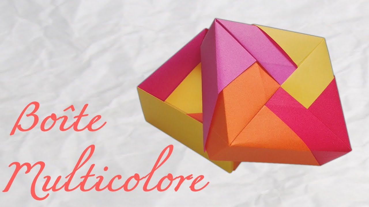 origami boite en papier tuto diy youtube. Black Bedroom Furniture Sets. Home Design Ideas