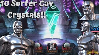 10x Silver Surfer Cavalier Crystals! Luck Spree Continue?? - Marvel Contest of Champions