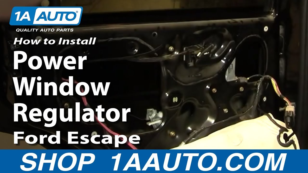 How To Replace Window Regulator 01 07 Ford Escape Youtube