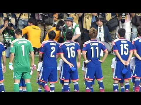 2014-05-27 日本代表戦 vsキプロス(埼スタ) 選手入場