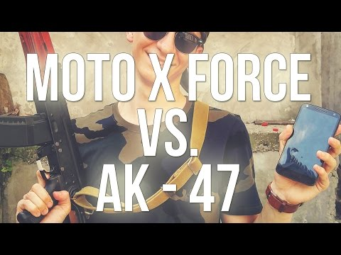 Motorola Moto X Force vs. AK 47. Extreme crash test! (review Română)