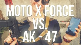 Motorola Moto X Force vs. AK 47. Extreme crash test! (review Română)