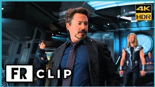 """That Man Is Playing Galaga!"" - Tony Stark Funny Scene 