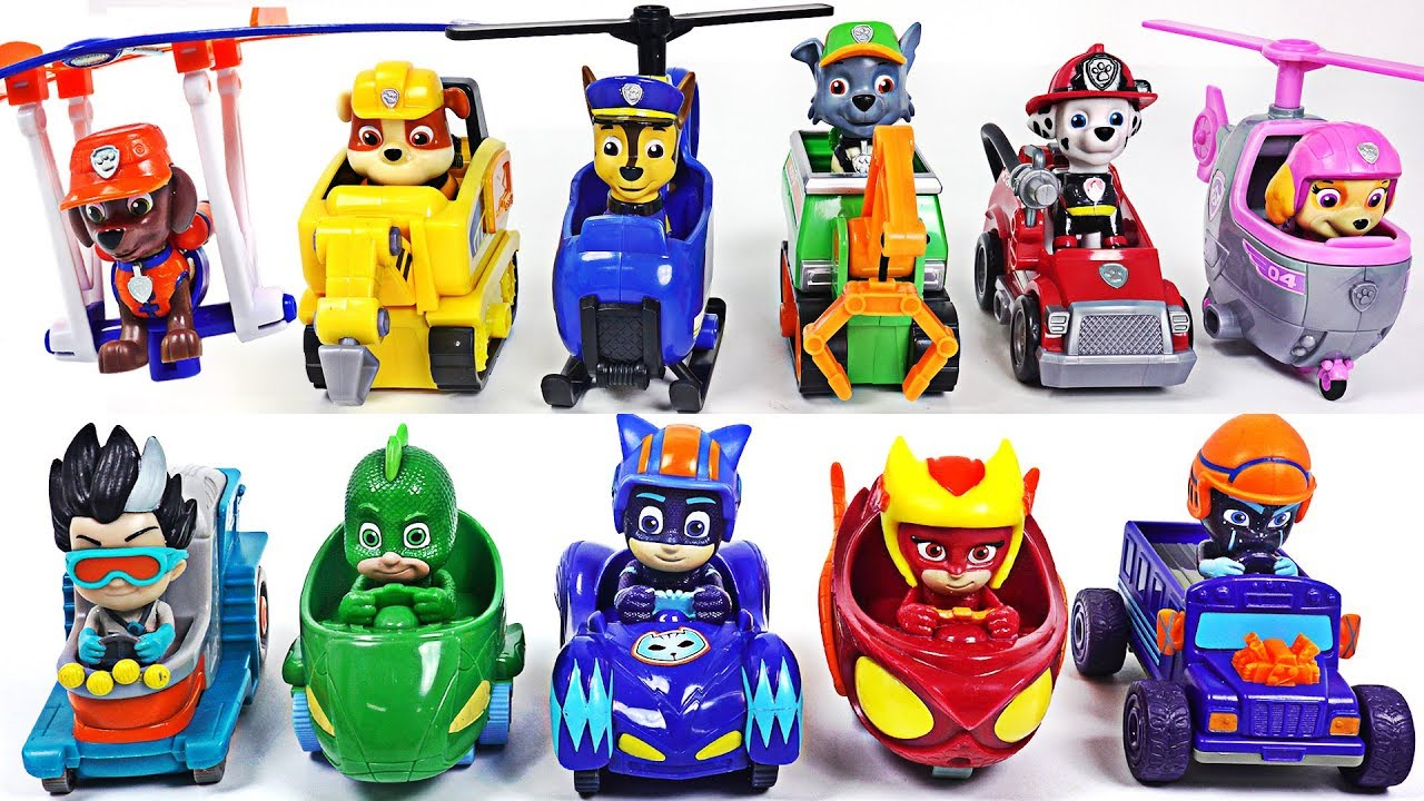 Paw Patrol Ultimate Rescue mini vehicle! Combine! Save the PJ Masks from dinosuars! #DuDuPopTOY