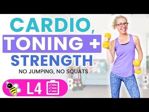 35 Minute Low Impact Cardio, Toning + Strength Workout �� Burn 250 Calories