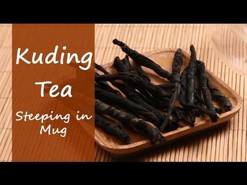 Kuding Tea Kuding Cha Steeping In Infuser Mug Youtube
