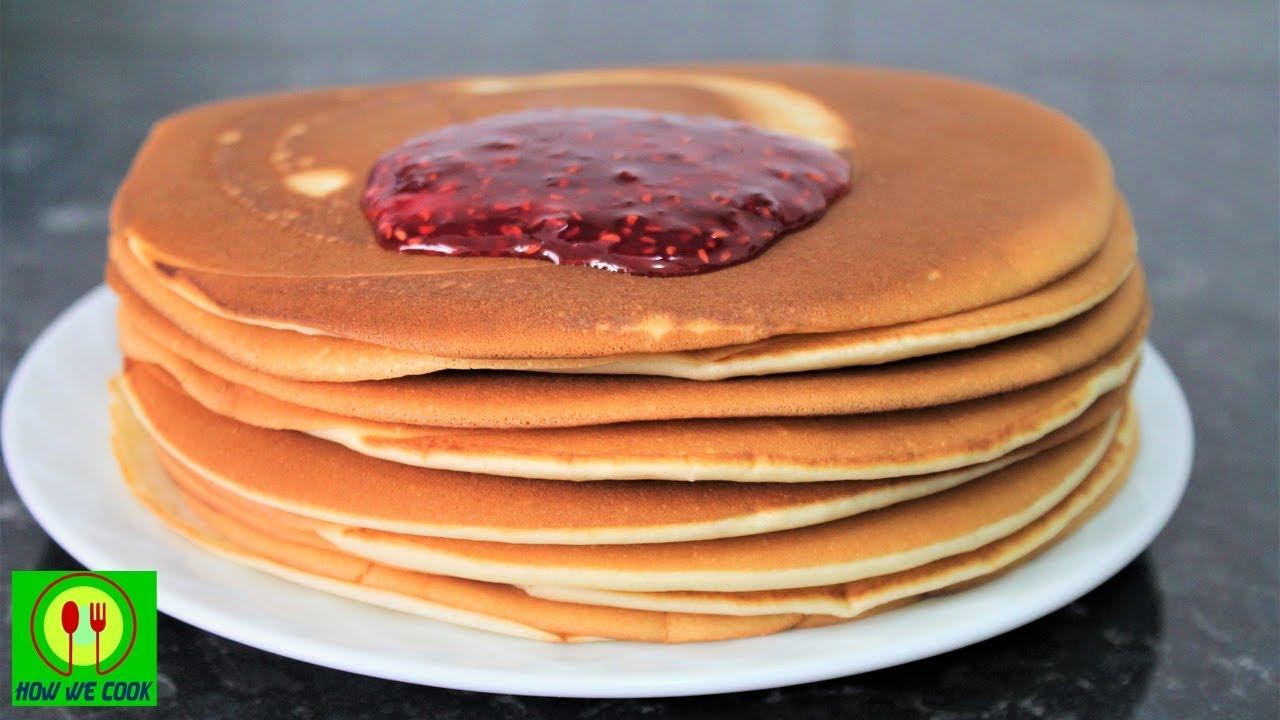 Лучшие толстые блины на молоке Панкейки Короткий видео рецепт Kalın krep tarifi Pancake How we cook