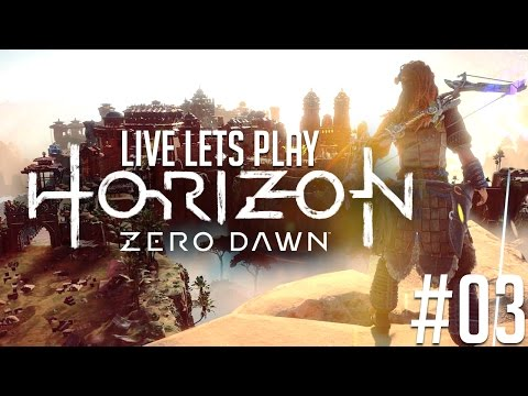 ✔️️ Horizon Zero Dawn Deutsch Live Let's Play [Schwer] #03 -