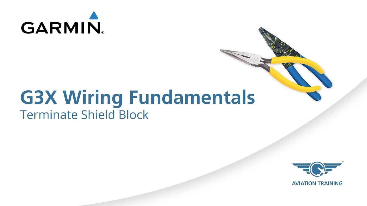Garmin G3X Wiring Fundamentals Series – Terminate Shield Block - Dauer: 5 Minuten, 17 Sekunden