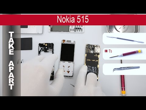 How to disassemble 📱 Nokia 515 RM-953, RM-952, Take apart, Tutorial