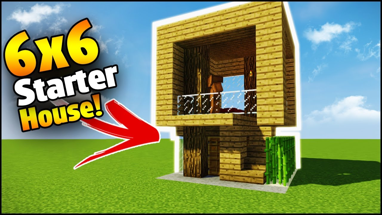 Minecraft 6x6 Starter House Tutorial How To Build A