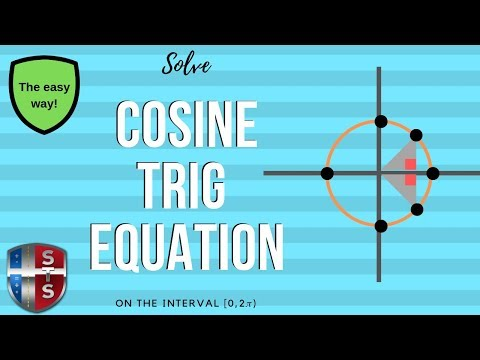 Math Analysis - Trigonometric Equation - Solve over an interval [0,2pi) - cosine