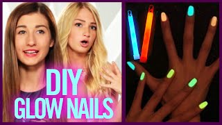DIY GLOW STICK NAIL POLISH - Makeup Mythbusters with Maybaby and BindleBeautyx