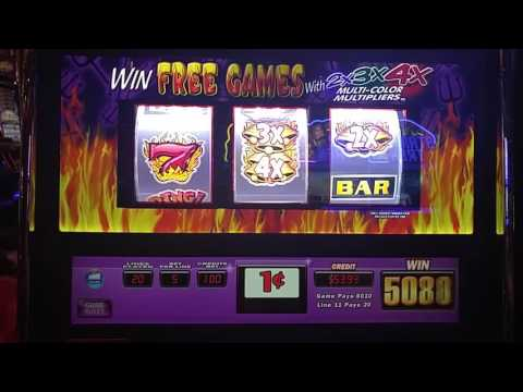 Big Win! Hell's Bells slot machine at Sands casino