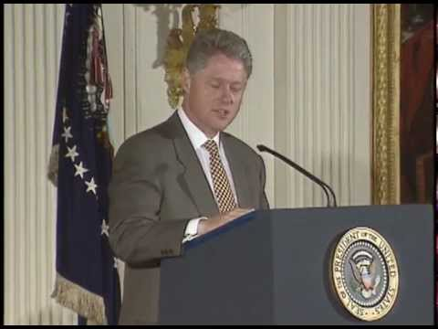 Pres. Clinton Signing the Safe Drinking Water Act (1996)