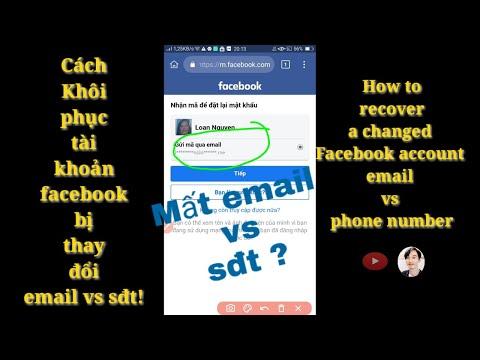 tài khoản facebook bị hack và đổi email - Khôi phục tài khoản  facebook bị thay đổi email vs sđt ! | minh kiet tg