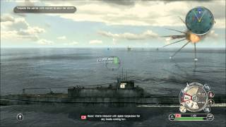 Battlestations Pacific - Submarine and Battleship gameplay HD