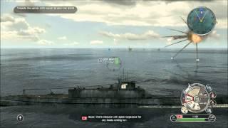 Battlestations Pacific - Submarine and Battleship gameplay HD
