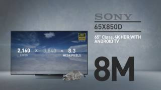 SONY 65X850D 4K HDR with Android TV  Sony XBR X850D Series // Full Specs Review