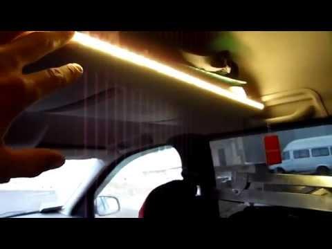 Подсветка заднего ряда и багажника Лада Ларгус