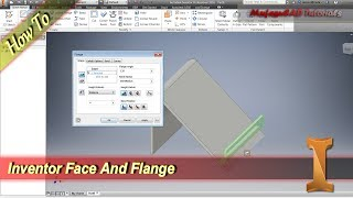 Inventor Tutorial Sheet Metal Face and Flange