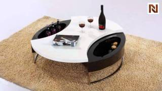Modern Round Coffee Table With Storage Vgcjm037