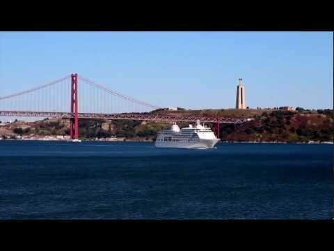 Silver Whisper Leaving Lisbon
