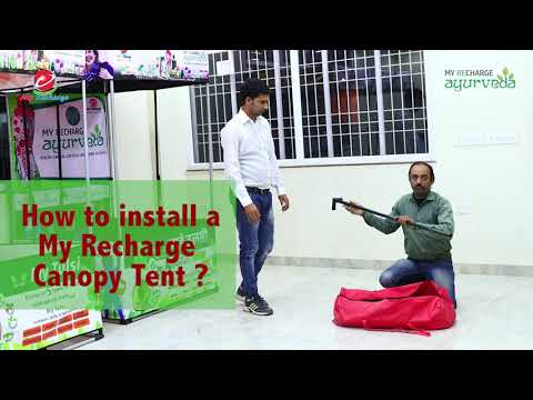 CANOPY TENT | TENT SETUP | ON CITY ROAD SIDE | MY TULSI | AYURVEDA | DTH RECHARGE | MY RECHARGE