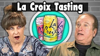 Elders Vs. Food | LA CROIX TASTING (17 FLAVORS!)