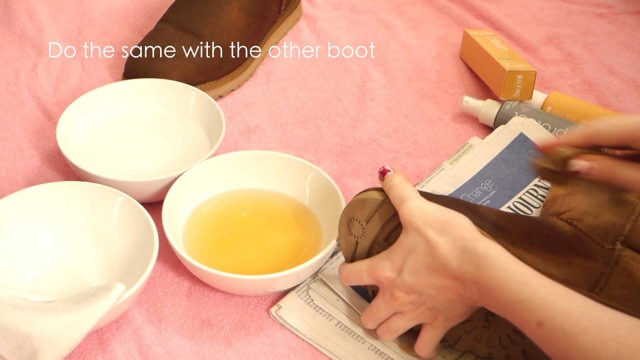 How To Remove Water Stains From UGGS - YouTube