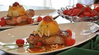 Peach Melba Pork Chops