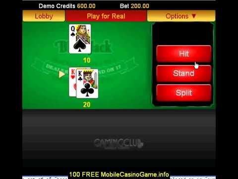 BlackJack @ Mobile Gaming Club Casino £100 FREE Bonus221