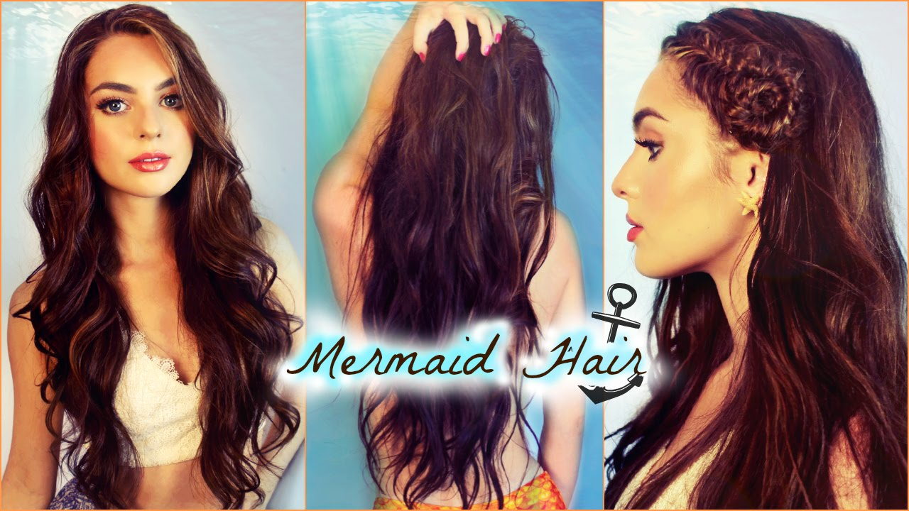 Mermaid Waves Hair Tutorial  How To Seashell Fishtail Braid! Jackie Wyers   Youtube