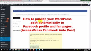 How to publish your WordPress post automatically to Facebook profile and fan pages