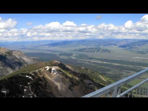 On top of Jackson Hole Wyoming Gondola / Cable Car ride. - Yellowstone road trip
