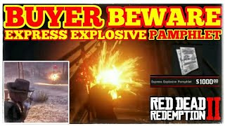 BUYER BEWARE EXPRESS EXPLOSIVE PAMPHLET Red Dead Redemption 2 Online