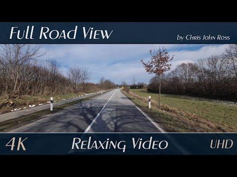 Schleswig-Holstein, Germany: B75, Reinfeld - Lübeck - Relaxing Video - 4K (UHD/2160p)
