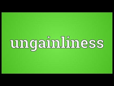 Header of ungainliness