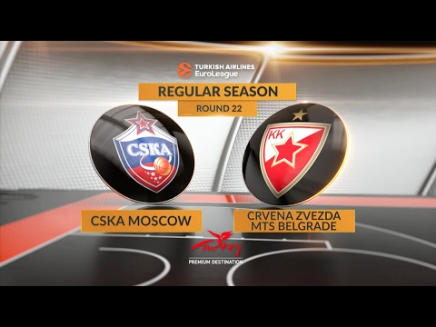 Highlights: CSKA Moscow-Crvena Zvezda mts Belgrade