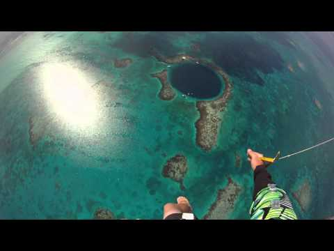 Skydiving into the Blue Hole, Belize