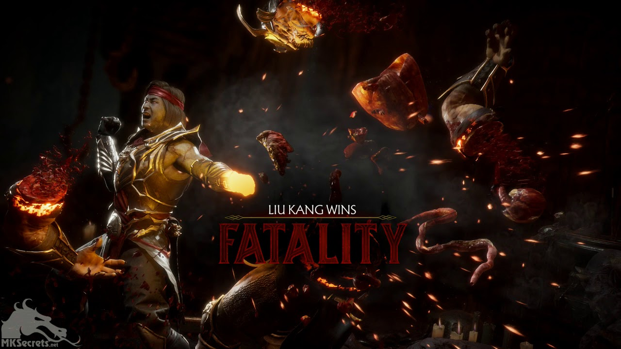 Mortal Kombat 11 Liu Kang's Burn Out Fatality