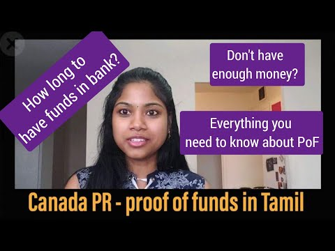 Canada PR Proof Of Funds In Tamil|Tip If U Dont Have Enough Money|common Queries|6 Months Bank Stmt