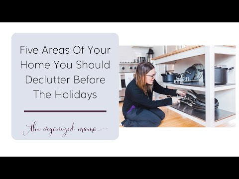 5 Areas In Your Home To Get Organized Before The Holidays #declutter #holidays #minimalism