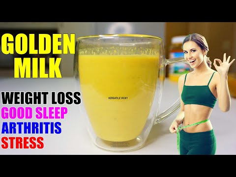 Turmeric Milk For Weight Loss (2 Ways) | Golden Milk For Weight Loss