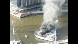 Luxury Yacht On Fire Docklands.m4v