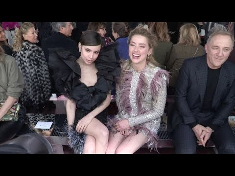 Amber Heard, Nicky HIlton and more front row before the Giambattista Valli Fashion Show in Paris
