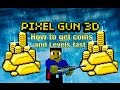 Pixel Gun 3D - How to get coins fast - How to Level up fast [Tutorial]